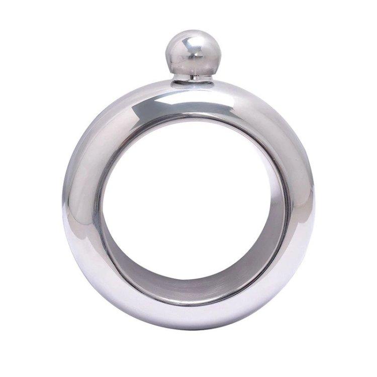 Flask Bangle Bracelet Silver