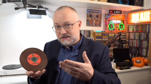 Playing a Chocolate Record