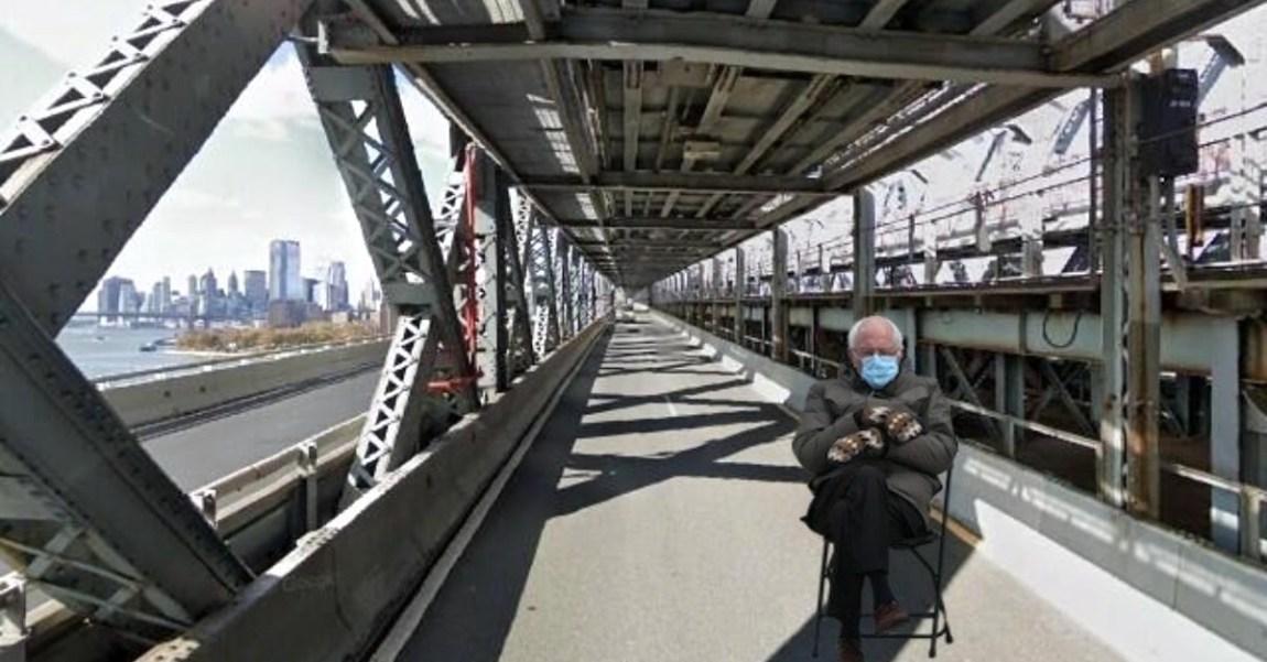 Bernie Sanders Williamsburg Bridge