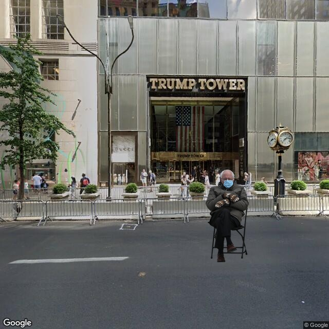 Bernie at Trump Tower