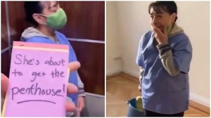 Cleaning Woman Penthouse Rent by Residents