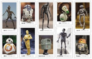 Star Wars Droids Stamps Horizontal