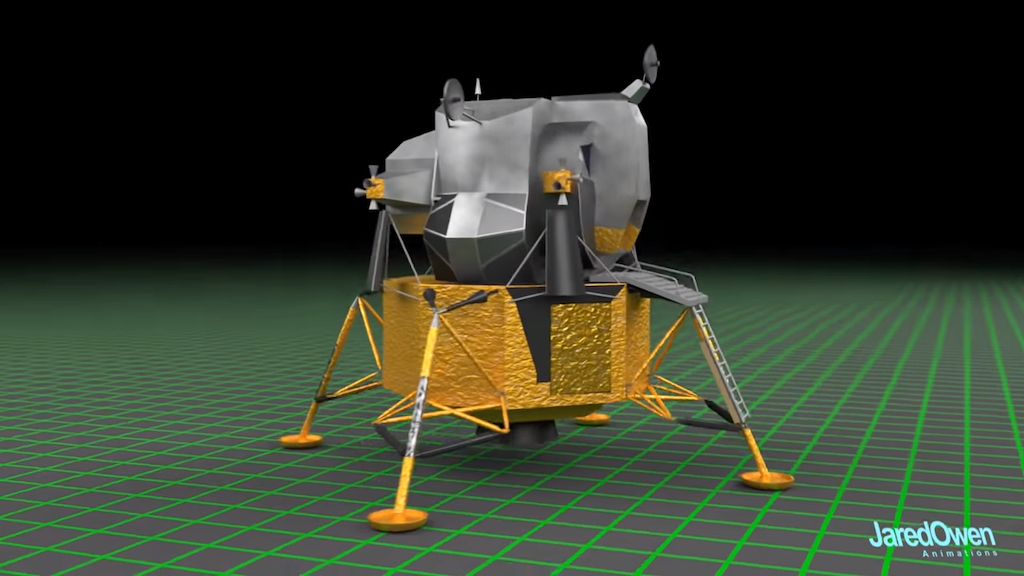 A Highly Informative 3D Animation That Shows How the Apollo 11 Lunar Module Was Constructed
