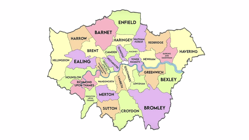 Why does London have 32 boroughs