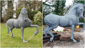 Wire Horse Sculptures