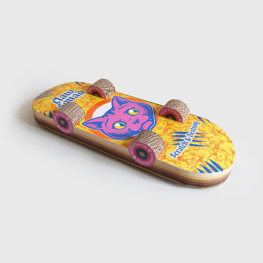 Cat Skateboard Scratcher Bottom