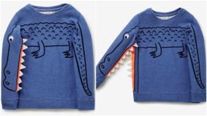 Crocodile Sleeve Sweater