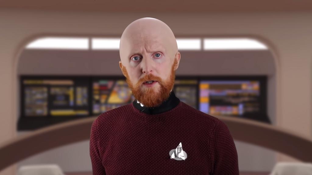 Humorous Parody of On-Screen Bridge Conversations That Took Place on 'Star Trek: The Next Generation'