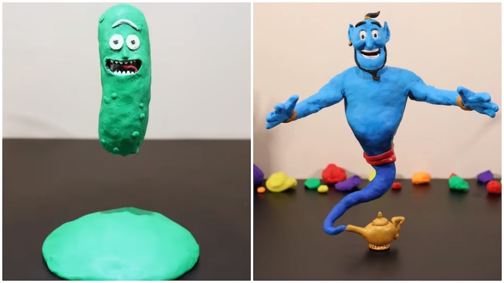 Green and Blue Claymation Tributes
