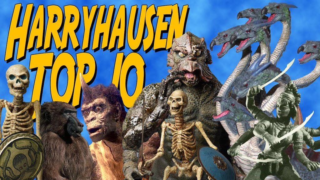 A Fascinating Top Ten Compilation of Creatures by Stop Motion Pioneer Ray Harryhausen