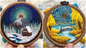 Realistic Beaded Embroidery Nature Vignettes
