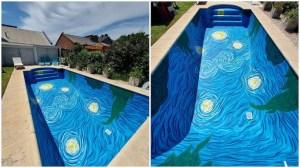 Starry Night Swimming Pool