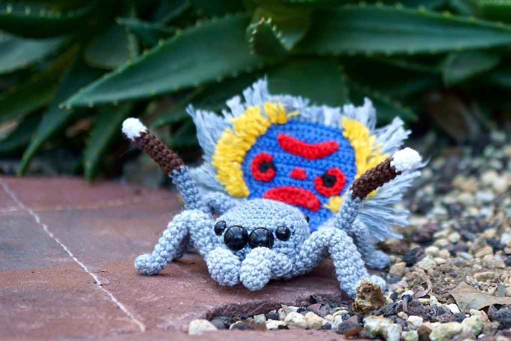Amigurumi Peacock Spider