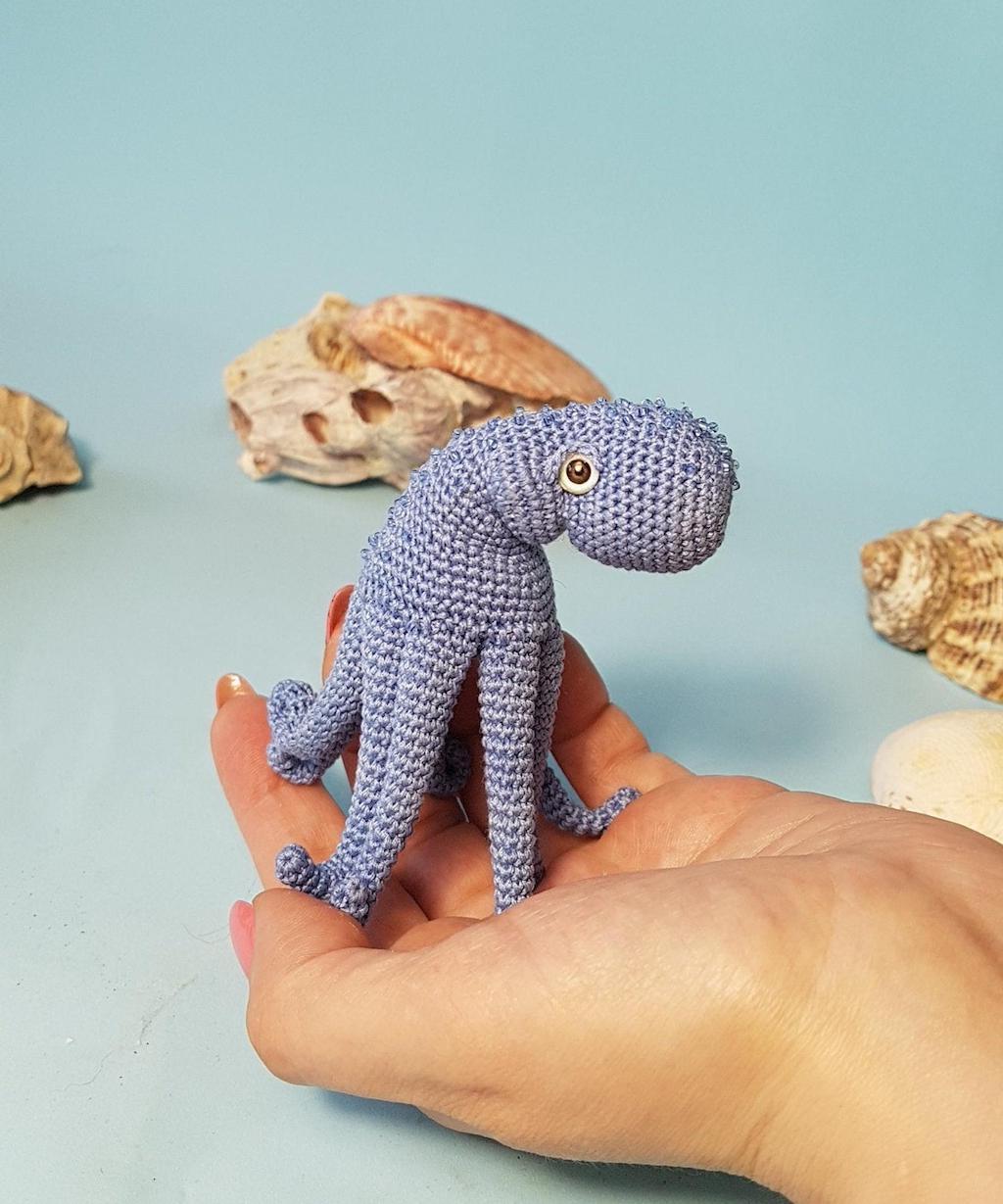 Crochet Octopus Blue