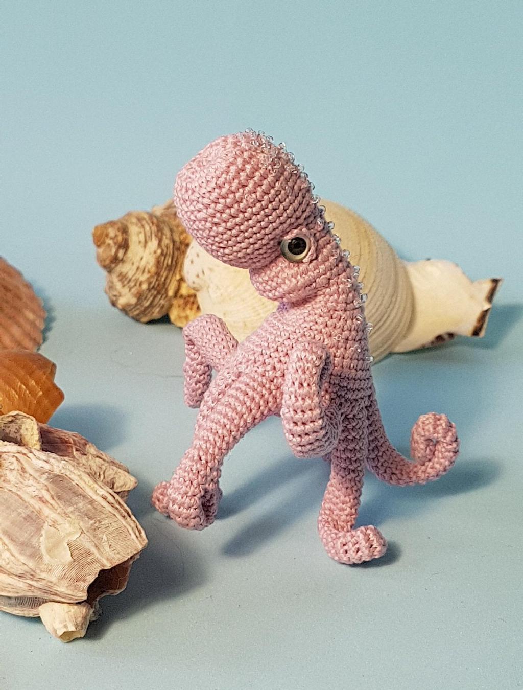 Crochet Octopus Pink