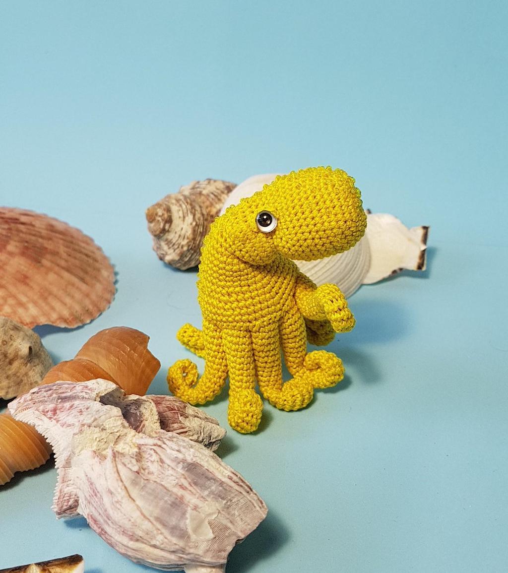 Crochet Octopus Yellow