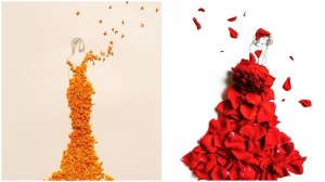 Dramatic Ballgowns Made From Flowers