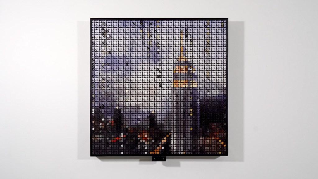 Empire State Building Flip Discs Rain