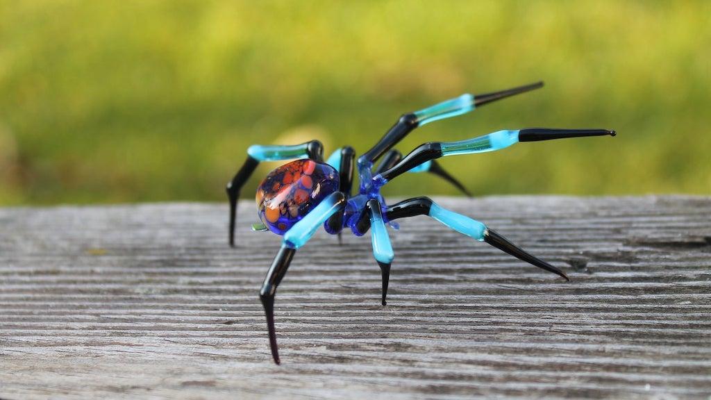 Gorgeous Handblown Glass Spiders