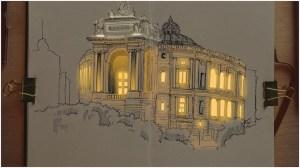 Nikita White Architecture Sketch Lights On