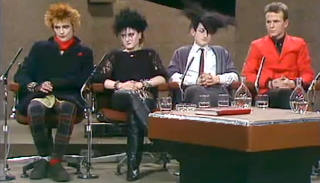 Irish Television Host Interviews a Punk, Two Goths, and a Mod on 'The Late Late Show With Gay Byrne' in 1983 - laughing squid