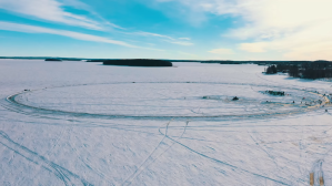Worlds Largest Ice Carousel