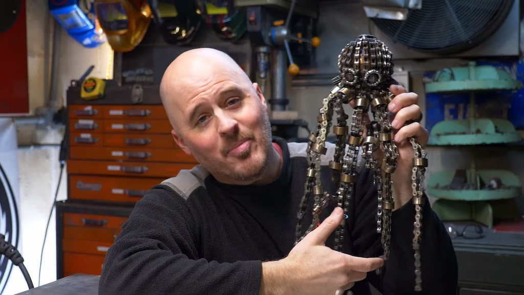 Bicycle Chain Sculpture Octopus