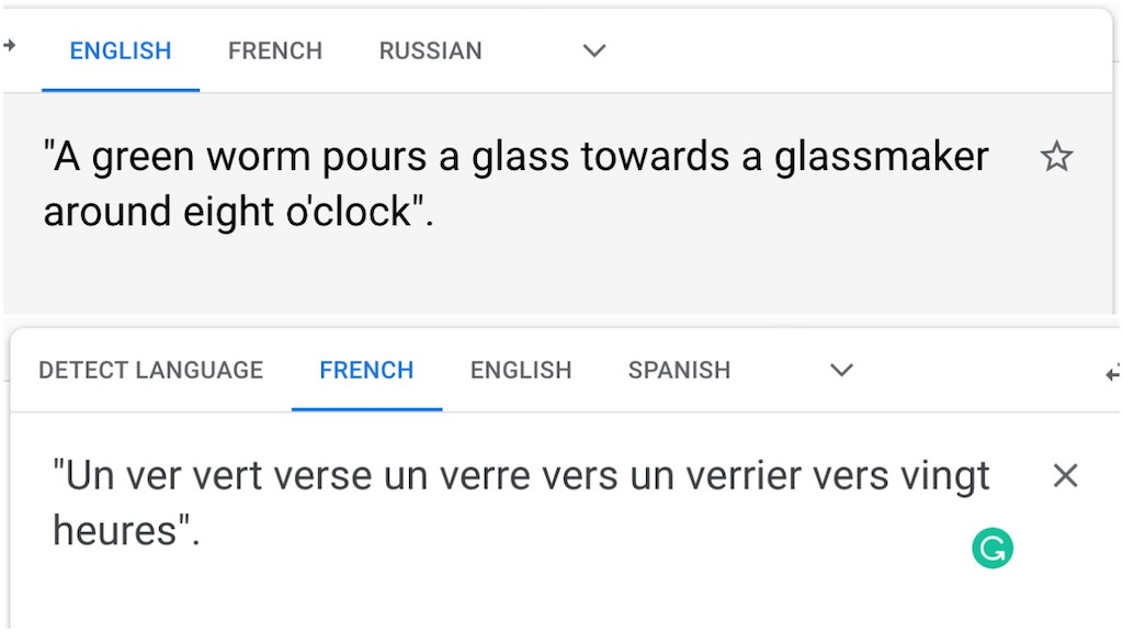 French Nonsense Phrase Sounds Like Ver
