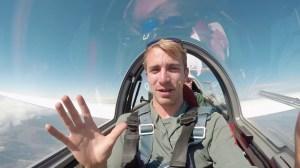 Glider Hovering at 14000 Feet