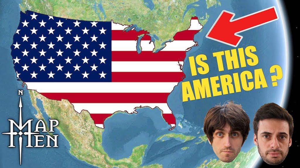 History of America Map Men