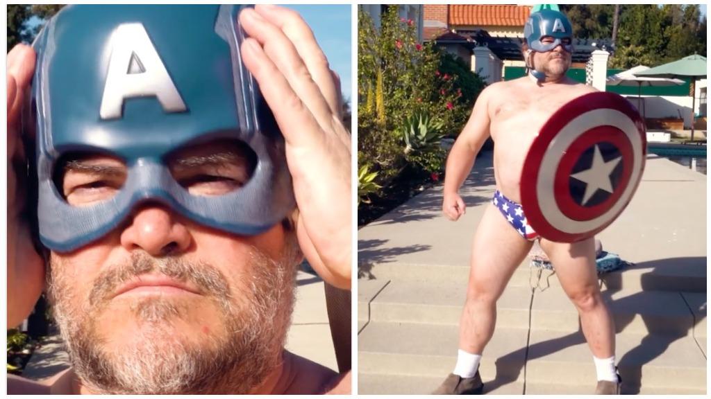 Jack Black as Captain America