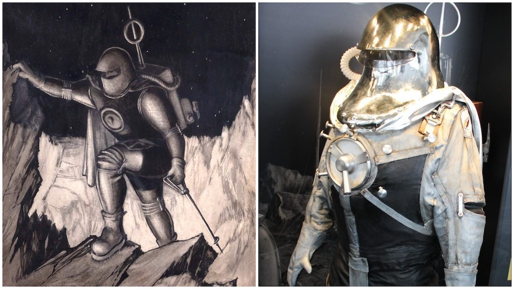 British Interplanetary Society Spacesuit and Illustration