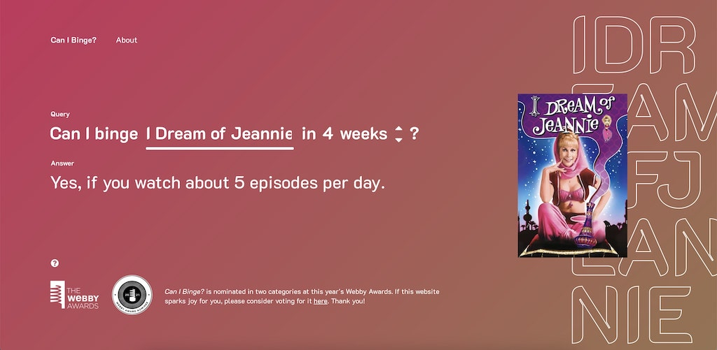 Can I Binge I Dream of Jeannie