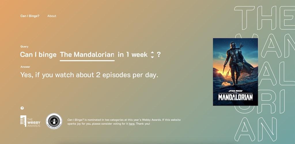 Can I Binge The Mandalorian