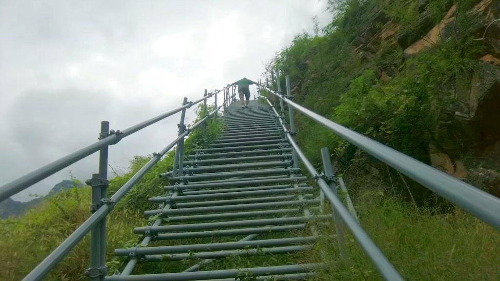Climbing Sichuans Insane Mountain Ladder