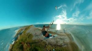 Kite Surfer Leaps Over Peninsula in Brazil