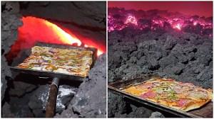 Lava Rock Volcano Pizza