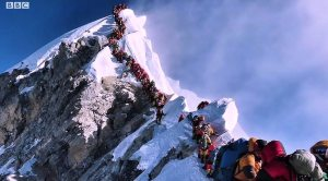 Queuing on Mount Everest