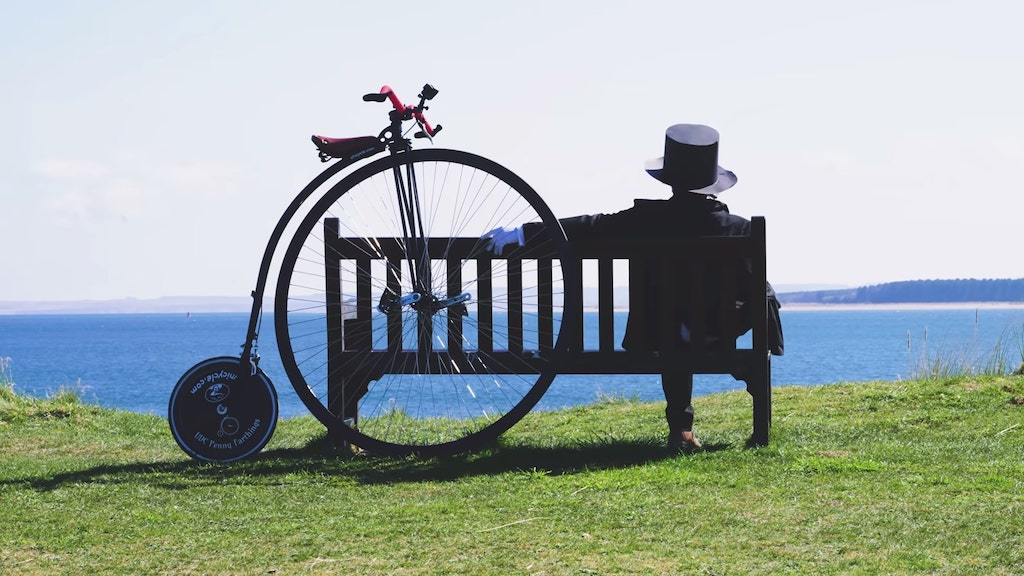 Riding a Penny Farthing Rest
