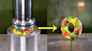 Skittles Hydraulic Press Donut
