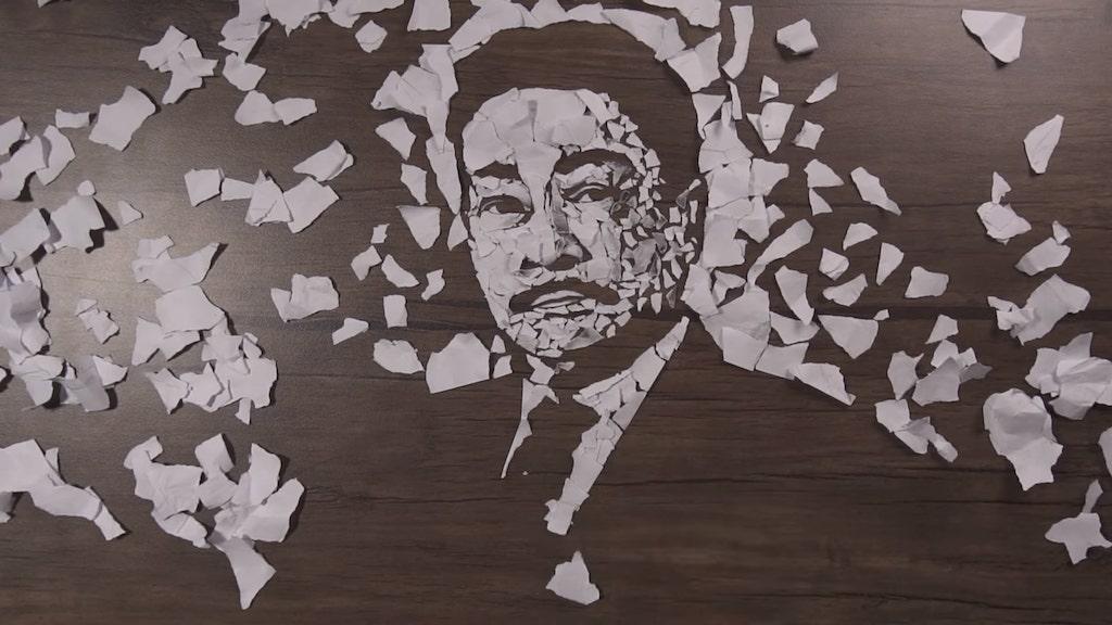 Torn Paper Portrait
