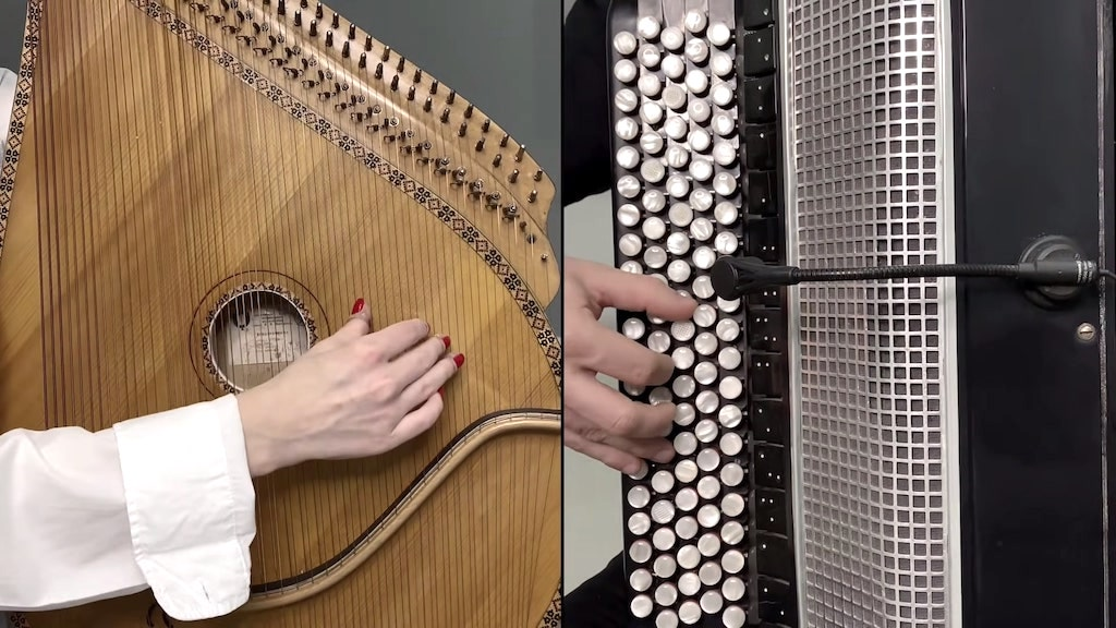 A Beautiful Cover of the Iconic Eagles' Song 'Hotel California' on Ukrainian Bandura and Button Accordion