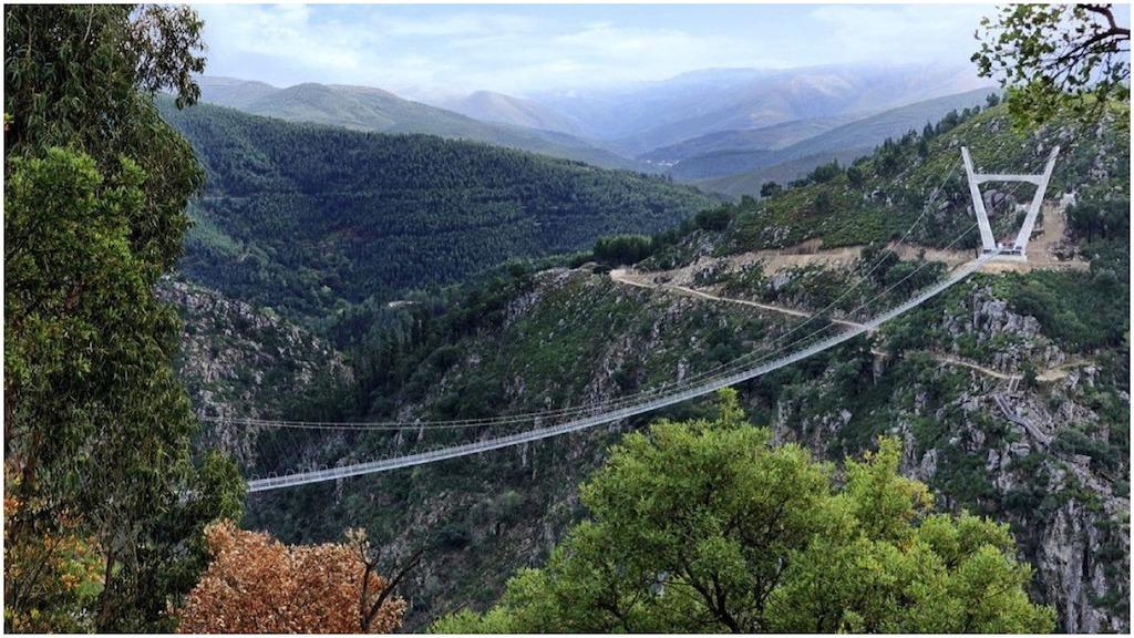 World's Longest Pedestrian Suspension Bridge Opens Up High Above the River Paiva in Arouca, Portugal