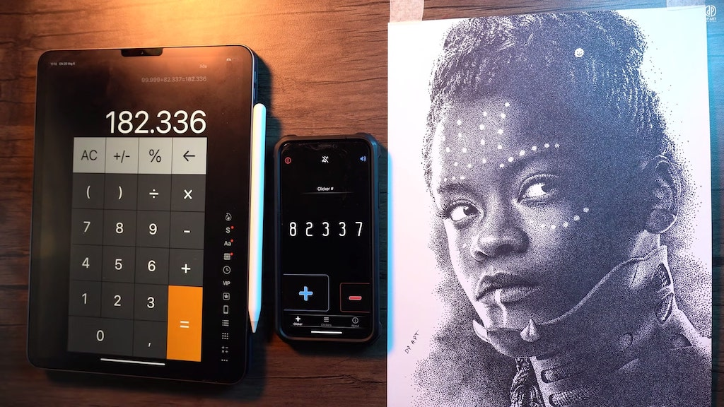 182336 Dot Drawing