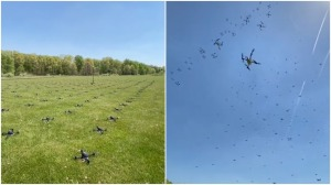 300 Drones Taking Off