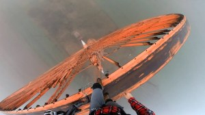 50 Meter Jump Off Abandoned Wind Turbine in Poland