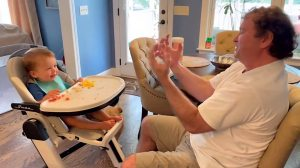 Dad Pretending Jedi Powers