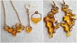Honey Dripping Bee Themed Jewelry