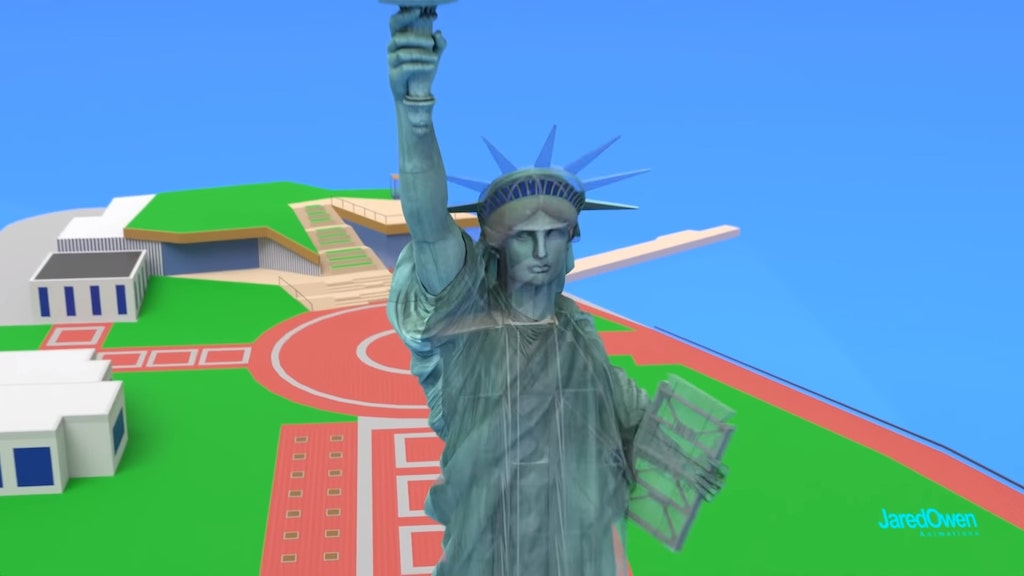 Inside the Statue of Liberty