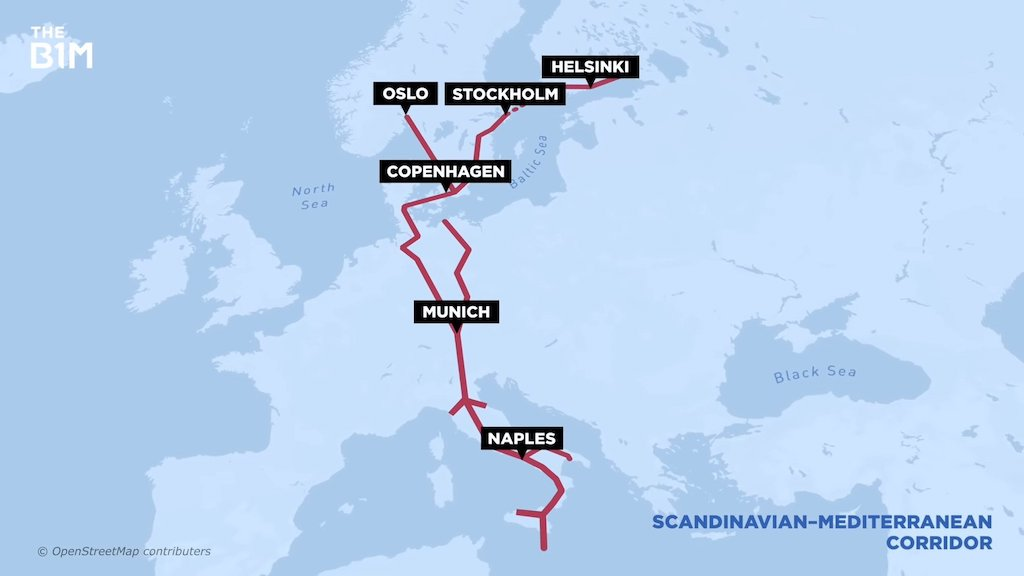 Massive Tunnel Connecting Scandinavia With Mediterranean